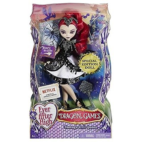 Ever After High Toy Dragon Games Mattel DHF97 Teenage Evil Queen Deluxe Special Edition Doll