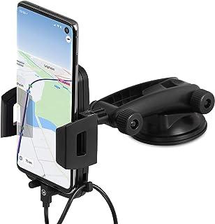 Wicked Chili Handyhalterung Auto Handyhalter kompatibel mit Samsung Galaxy S20 Ultra, S10, A51, A71 Auto KFZ Halterung Smartphone Halterung Armaturenbrett & Windschutzscheibe 2 in 1 Saugnapf Halterung