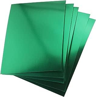 Hygloss 25 Green, 8.5 x 11-Inch Metallic Foil Board Sheets