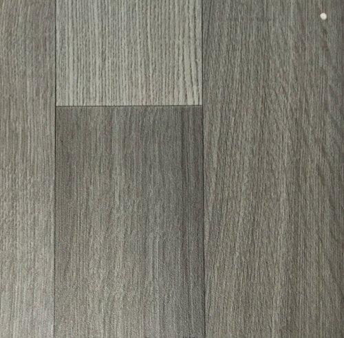 PVC Vinyl-Bodenbelag in der Optik grau anthrazit Holz Planke | PVC-Belag verfügbar in der Breite 4 m & in der Länge 5,0 m | CV-Boden wird in benötigter Größe als Meterware geliefert