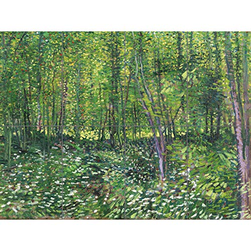 Artery8 Vincent Van Gogh Trees And Undergrowth XL Giant Panel Poster (8 Sections) Alberi Manifesto