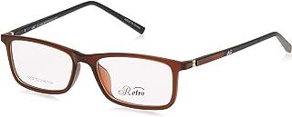 RETRO Unisex-adult Spectacle Frames Rectangular 5202 M.Brown/Black
