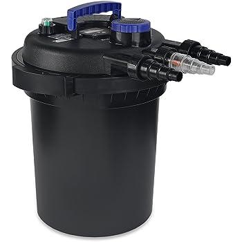 XtremepowerUS Koi Pressure Boi Filter Pond Garden Pond Pump Filter UV Sterilizer