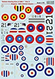 Decal for Airplane Balloon-Busting ACES of WW I Part 3 - Belgium, USA & British Empire 1/72 PRINT SCALE 72-226