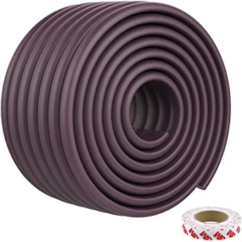 Baby Proofing Edge Guards 15.7ft Extra Wide Edge Protectors with 3M Tapes for Table, Desk, Fireplace(Brown)