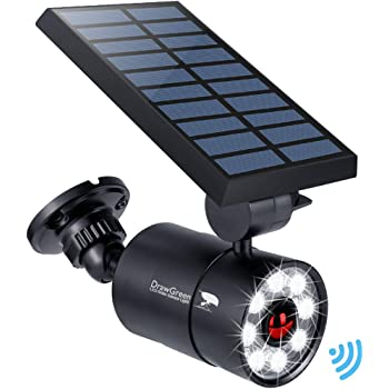 Solar Motion Sensor Light Outdoor Aluminum, 1400-Lumens 9W LED(130W Equi.), 2-Mode Spotlight, Solar Flood Emergency Security Lights for Driveway Patio Path Garden, 160-Week 100% Free Replacement