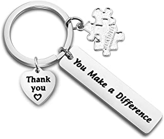 TGBJE Autism Teacher Gift You Make A Difference Keychain Gift for Autism Awareness,SPED Teacher's Gift Inspirational Gift