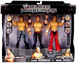 WWE Jakks Pacific Wrestling Exclusive DELUXE Aggression Action Figure 3-Pack Chris Jericho, Kane and Shawn Michaels