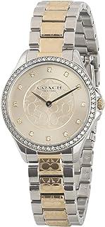 Coach Womens Quartz Wrist Watch, Gold Stainless Steel - 14503506