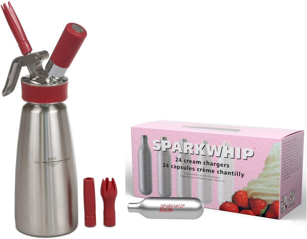 iSi Gourmet Brushed Directly managed store Stainless Steel Pint Special Campaign Whipped Dispenser Cream