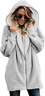 Best grey fluffy coat Reviews