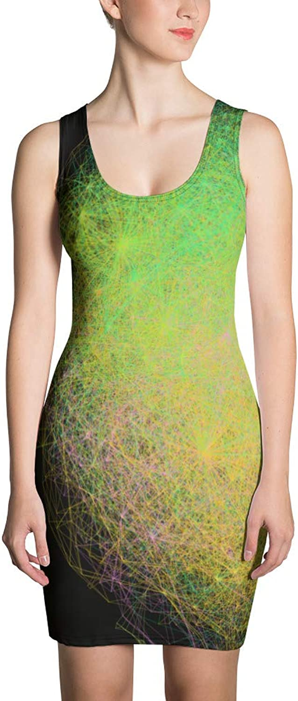 GeoPattern Taraxacai Nuclear Sublimation Cut & Sew Dress