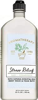 Bath and Body Works Aromatherapy STRESS RELIEF - SAGE + CEDARWOOD Body Wash and Foam Bath 10 Fluid Ounce
