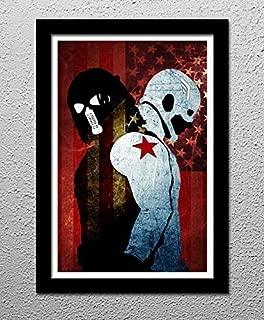 Captain America Winter Soldier - Original Minimalist Art Poster Print