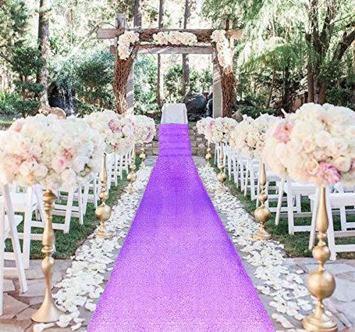 AisleRunner for Wedding 15FTx2FT Sequin Aisle Runner Indoor Outdoor Ceremonies Decor Lavender CarpetRunner Church Runner Wedding Walkway CarpetRunner Rugs AisleRunner Sequins (2FTx15FT, Lavender)