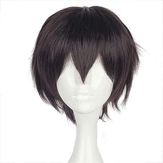 NiceLisa Halloween Party Cosplay Wig Short Brown Boy Male Anime Comic Costume Wig