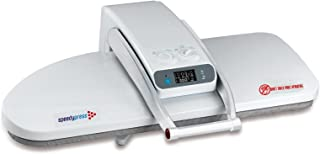Super Premier Double Size Ironing Press; 1800watts! Halves Your Ironing Time! Can be Used as Dry Press or 38 Powerful Steam Jets. FREE ACCESSORIES INCLUDED: Extra Cover and Foam, Pressing Cushion, Filler Jug, Spray Bottle, Instructional DVD