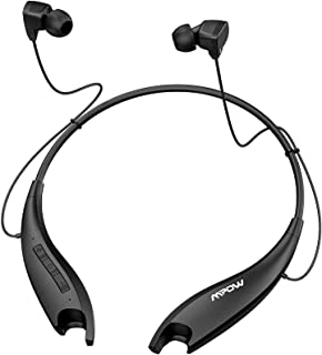Mpow Jaws Gen5 Bluetooth Headphones 18H Playtime for Work from Home, V5.0 Wireless Neckband Headphones Online Teaching & C...