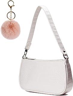 Retro Umhängetasche Tasche,90er Jahre Umhängetasche Damen,mit schickem Krokoprägung-Druck Crossbody Tasche,Damen Schultert...