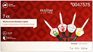 Holiday Living Set of 7 Bubble Lights Clear Bulbs