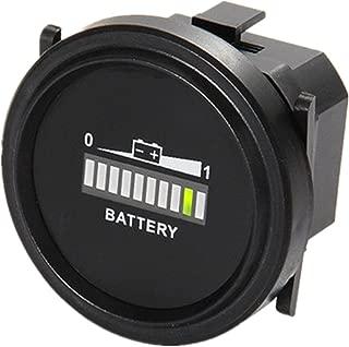 Aimilar Round Digital LED 12V 24V 36V 48V 72V Battery Indicator Meter Gauge Charge Status Monitor Tester for Golf Carts Forklift Car Scooter Motorcycle