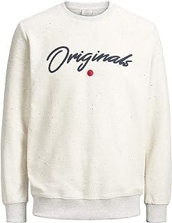 Jack & Jones Originals Sweater Mens Crew Neck Speckled Sweatshirt Jordot 12144999