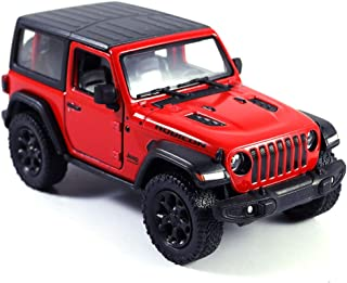 Jeep Wrangler Rubicon 4x4 Hard Top Off Road Exploration Diecast Model Toy Car Red