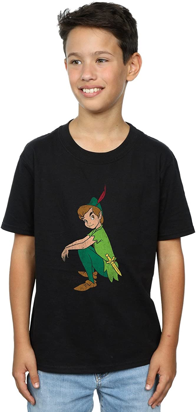 Disney Boys Peter Pan Classic Peter T-Shirt 9-11 Years Black