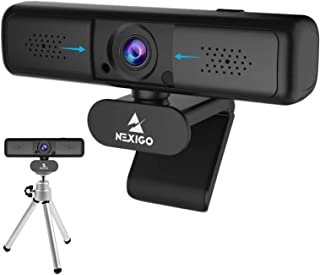 2K Zoomable Webcam with Mini Tripod Kits, NexiGo 1440P USB Web Camera with Dual Microphone, 3X Digital Zoom, Extendable Tr...