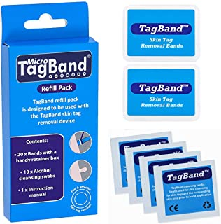 30-Piece Micro Band And Swab Set Blue/White