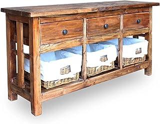 Unfade Memory Buffet Bois de Manguier Massif,Meuble D'appoint en Bois,Table D'appoint,Table Console,pour l'entrée Salon Bu...