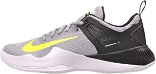 NIKE Women's Air Zoom Hyperace Volleyball Shoes (14 B(M) US, Wolf Grey/Volt-Black)