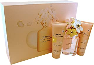 Marc Jacobs Daisy Eau So Fresh for Women, 3 Piece Gift Set 2.5oz EDT Spray, 2.5oz Radiant Body Lotion, 2.5oz Bubbly Shower Gel, 3 count