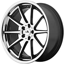 ADVENTUS AVS-4 Wheel with BLACK and Chromium (hexavalent compounds) (20 x 10. inches /5 x 74 mm, 35 mm Offset)