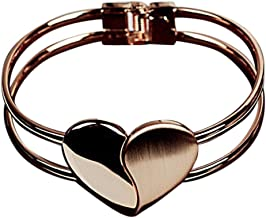 Laimeng New Fashion Lady Elegant Heart Bangle Wristband Bracelet Cuff Bling Gift