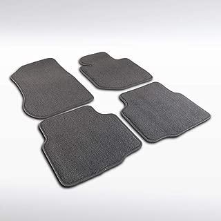 Autozensation For BMW E36 3-Series Grey Cotton Side Carpet Floor Mats 4 Pieces Front +Rear