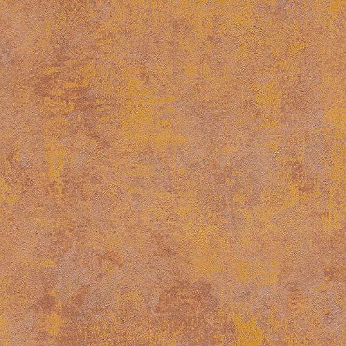 Tapete einfarbig Tapete uni Braun Silber Orange Terrakotta Vliestapete Braun Silber Orange Terrakotta 374253 | Jetzt Tapeten kaufen