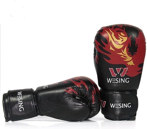 ZHAGOO Gants De Boxe - Gants Adultes De Sports De Sanda Sandsac De Formation, Gants En Cuir De Muay Thai MMA-UP - 10 Once.