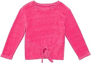 MQDORAFA Little Girls Ruffle Long Sleeve T-Shirts Kids Round Neck Casual Stripe Tee Shirts