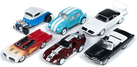 Johnny Lightning Classic Gold 2019 Release 1 Set B Diecast Car Set - Box of 6 Assorted 1/64 Scale Diecast Model Cars