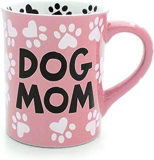 Our Name is Mud Dog Mom Stoneware Mug, Pink