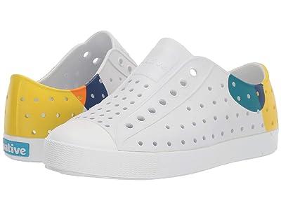 Native Kids Shoes Jefferson Block (Little Kid/Big Kid) (Shell White/Shell White/Dot Block) Kid