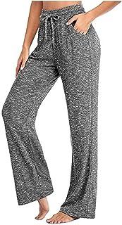 Women's Casual Pants Women's Sport Yoga Pants Jogger Quick-Drying Breathable Trousers Girls Soft Jogging Wide-Leg Sweatpan...