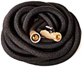 Riemex Expandable Hose 100 FT Black [New 2019] Heavy Duty Garden Water Hose - Triple Latex - Expanding Solid Brass Metal Fittings Connectors, Flexible Strongest - for All Watering Needs 100FT