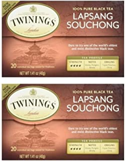 Twinings Lapsang Souchong Tea, 20 ct (Pack of 2)