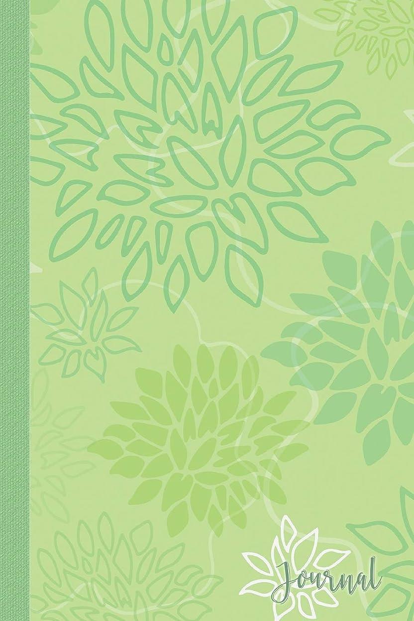 略す表向き意欲Journal: Green Flower Blooms Blank Lined Journal Daily Diary