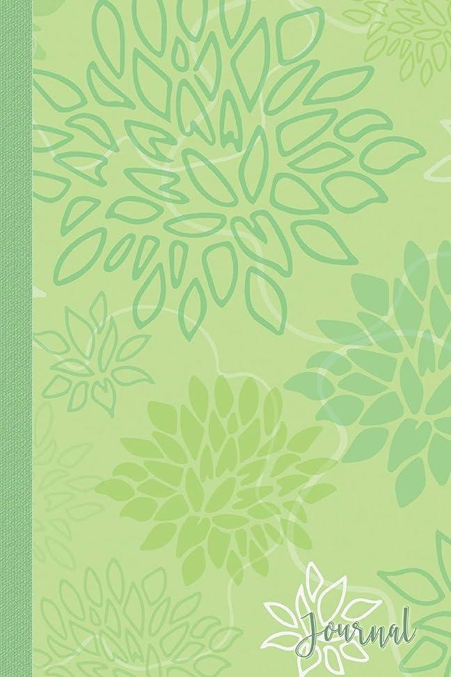 刈り取る手書き解決Journal: Green Flower Blooms Blank Lined Journal Daily Diary