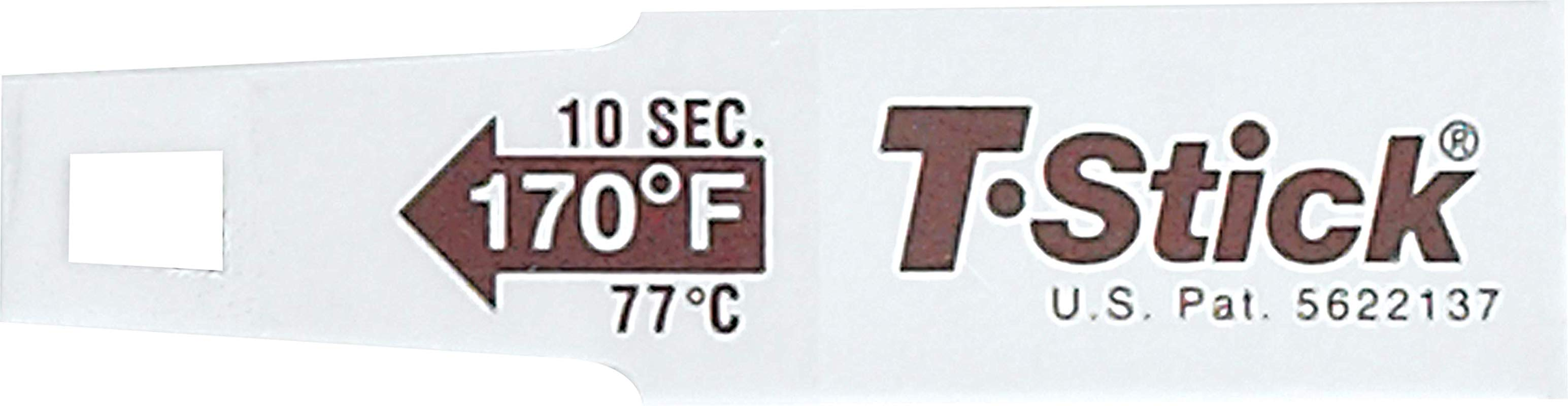 San Jamar TST9345 T Stick Disposable Food Food Thermometer Stick 170 Degrees Brown
