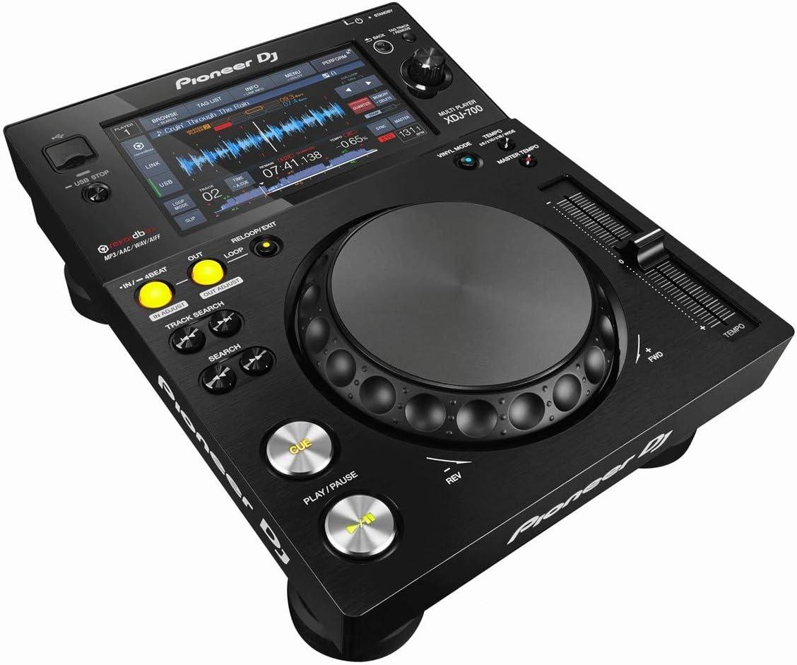 PAIR Advanced Playback Options and Pro DJ Link Interconnectivity BUNDLE with Zorro Polishing Cloth Pioneer DJ XDJ-700 Rekordbox /& Midi Compatible Compact Digital DJ Media Player with Wi-Fi Playback