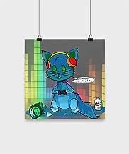 SunPoint Techno Kitty Gamer Poster